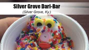 This Northern Kentucky gem is *the* local hot spot for burgers, cheddar tots, coneys and of course their soft serve ice cream. The Dari-Bar offers a low-fat, lactose-free pineapple soft serve that is a favorite among Yelpers–especially when it is dipped in one of their delicious candy coatings.