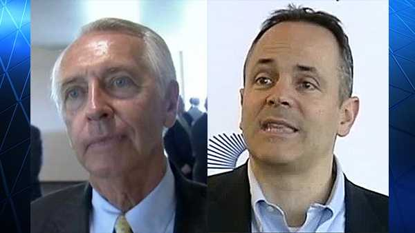 Former Gov. Steve Beshear and Gov. Matt Bevin