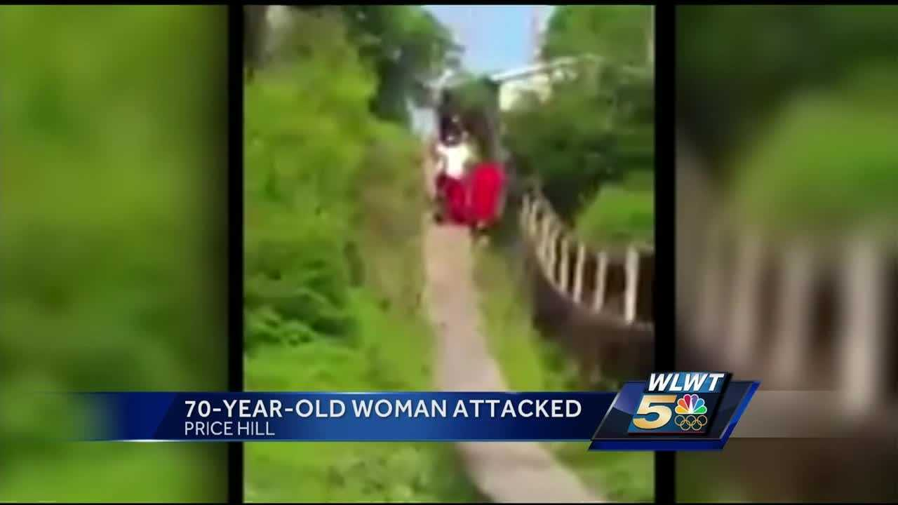 A group wearing color-coordinated outfits is accused of intimidating a neighborhood and when a 70-year-old woman working in her yard confronted them, she was attacked by a young female who was part of the group.