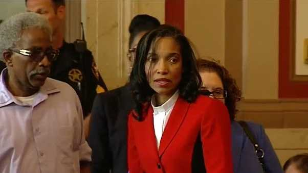 Former juvenile judge Tracie Hunter arrives in court May 20, 2016.