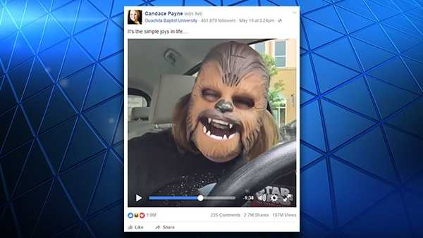 Texas mom Candace Payne set a Facebook Live record with more than 100 million views of her broadcast from May 19, 2016.