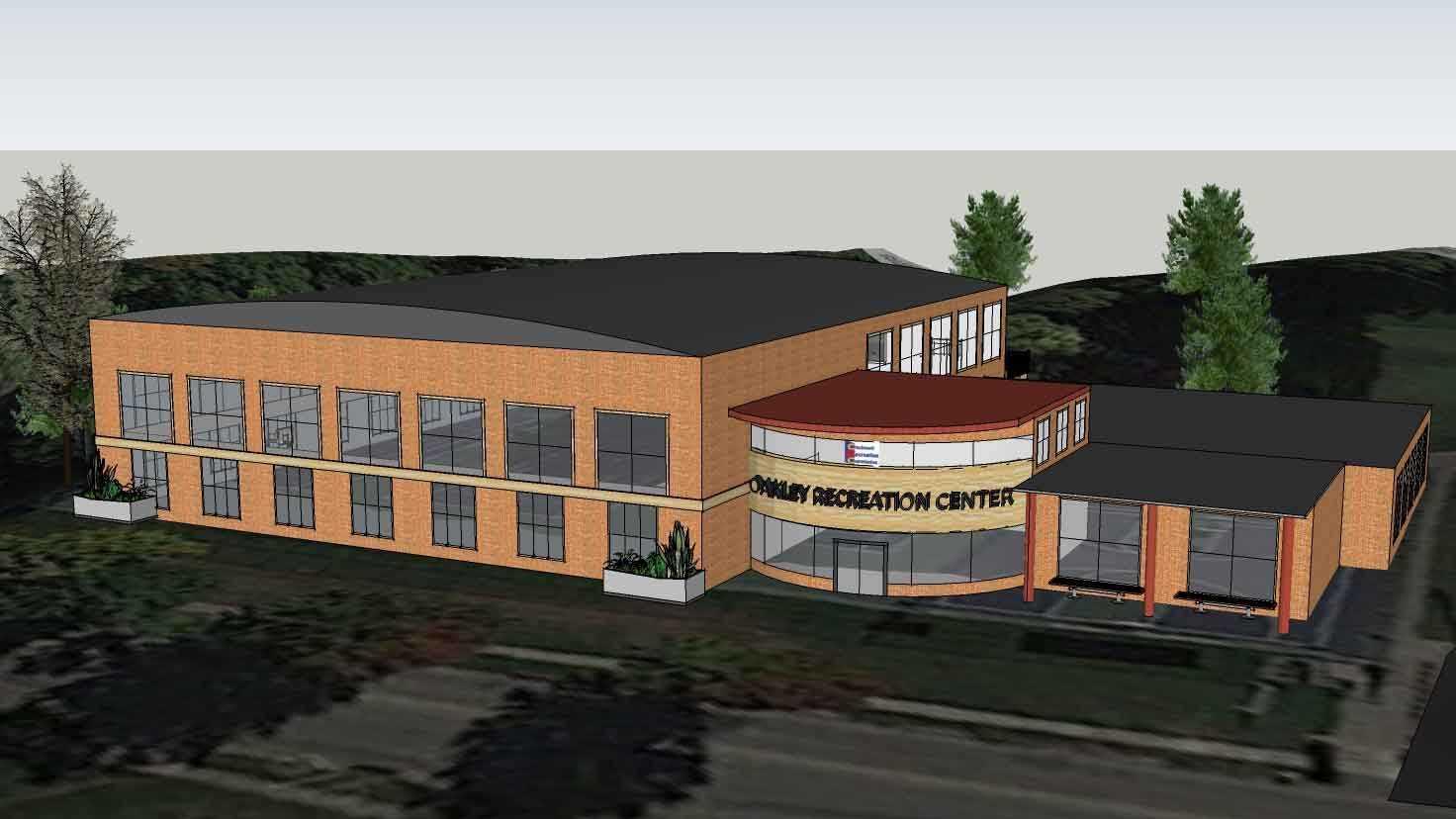 Proposed rendering for Eastside Recreation Center.