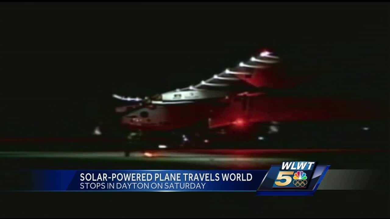 Solar plane lands in Dayton.