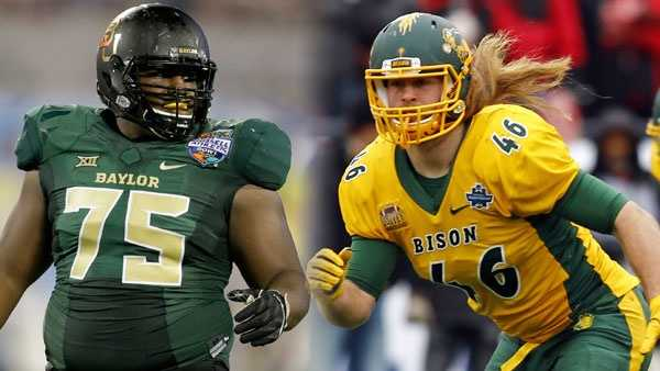 DT Andrew Billings (L) and FB Andrew Bonnet (R)