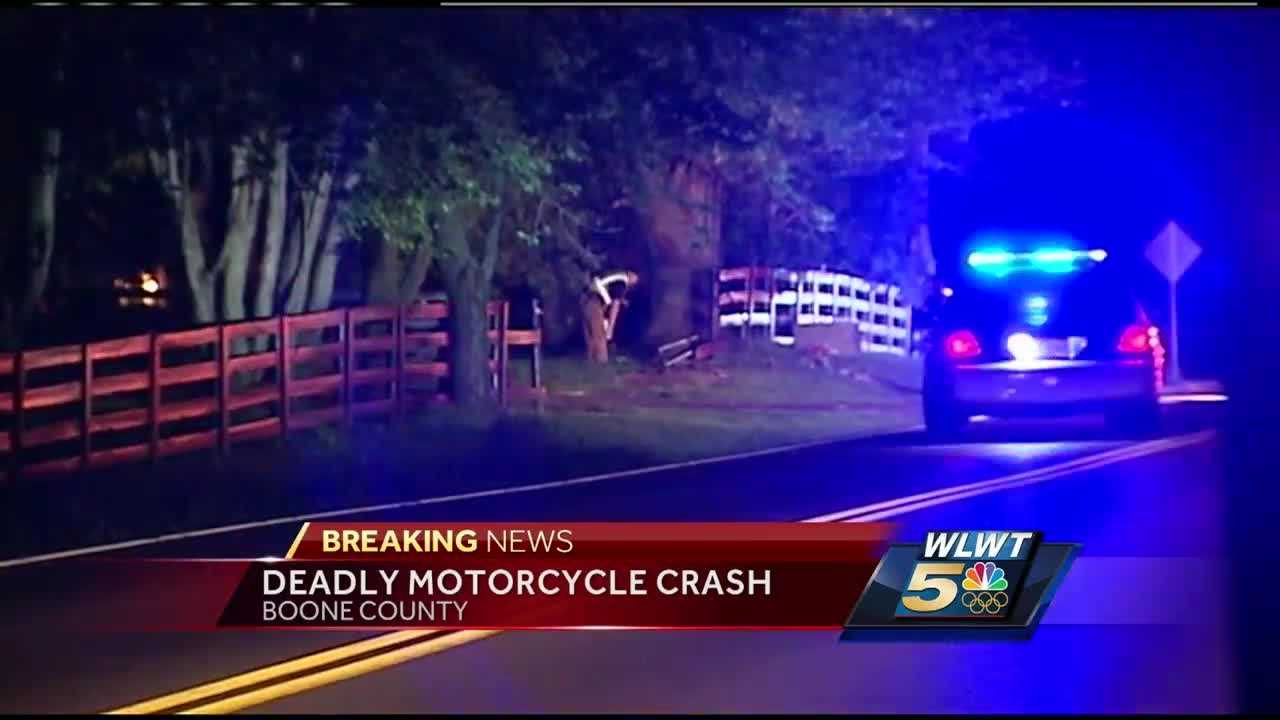A deputy happened to drive by the crash scene at 7839 Pleasant Valley around 2:30 a.m., where he found a motorcycle had crashed through a white picket fence
