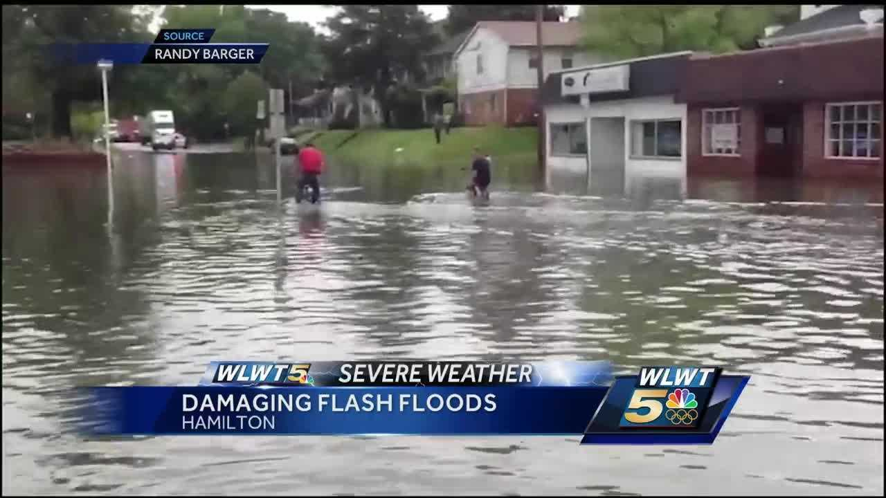 Heavy rain quickly transformed into flash flooding in parts of West Hamilton Thursday afternoon.