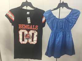 Women's Bengals top, $2.50Blue top, $3