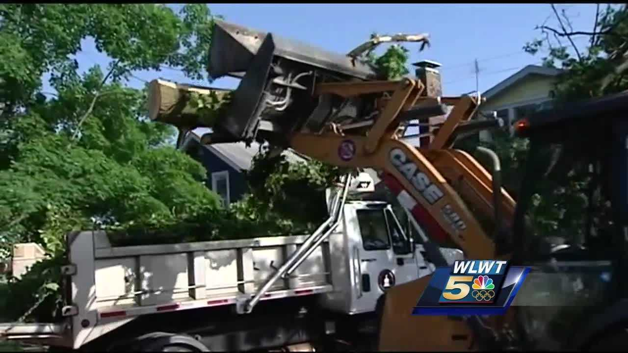 Tornado or not, Wednesday' storms left a mess behind in Hamilton's Lindenwald neighborhood.