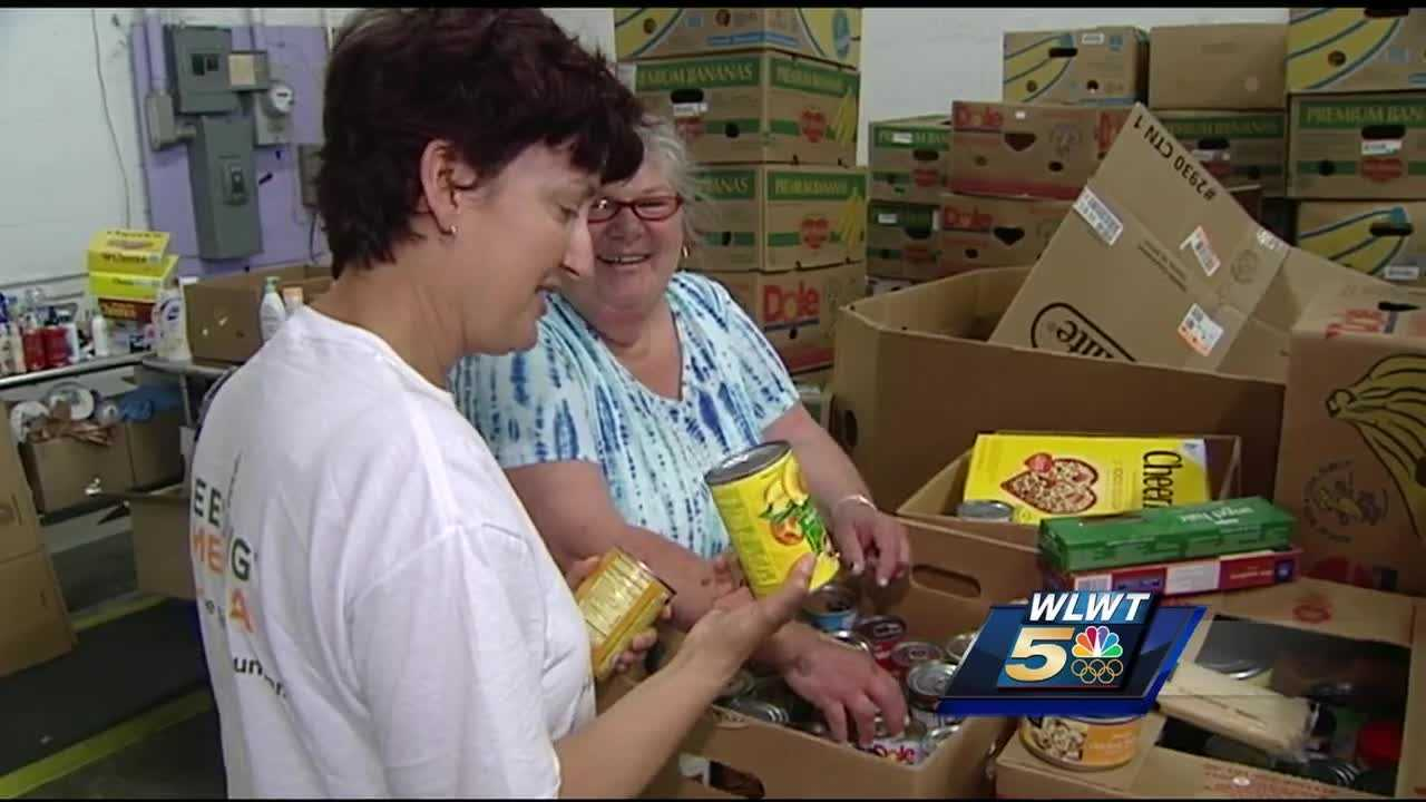 It's not every day you see a marathon runner volunteering their time in a food bank.