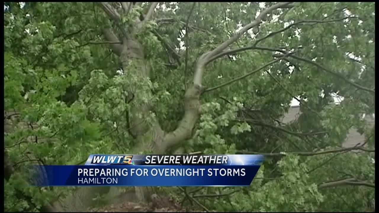 Still feeling the repercussions of a strong storm last week, residents in Hamilton, Ohio, are preparing for the possibility of more damaging storms.