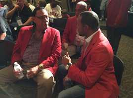 Left to right: Tony Perez, Mario Soto and Barry Larkin