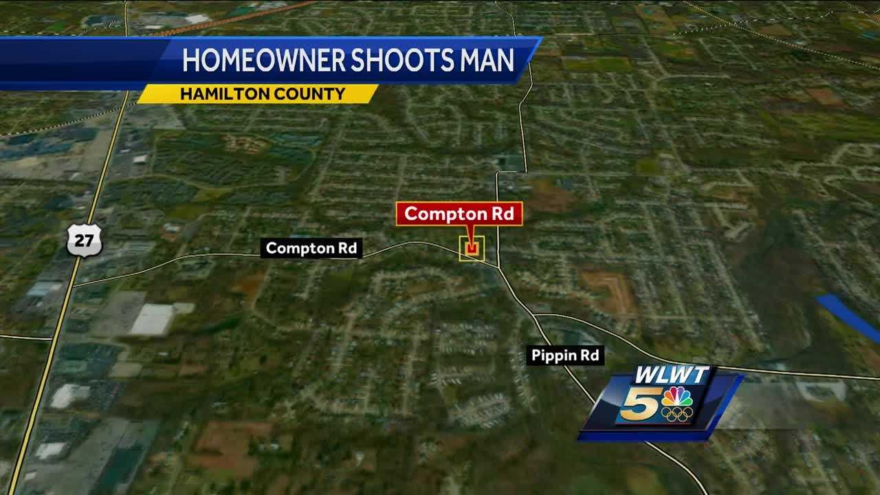 A man was shot after police said he mistakenly entered a stranger's home early Sunday in Colerain Township.