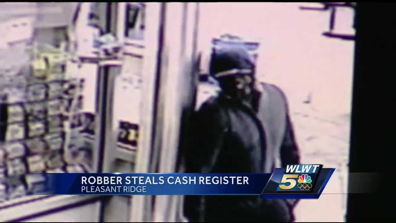 Thief rips resister drawer from behind counter at Pleasant Ridge gas station