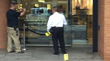 A group of up to a dozen people robbed a Saks Fifth Avenue in downtown Cincinnati Thursday morning, police said.