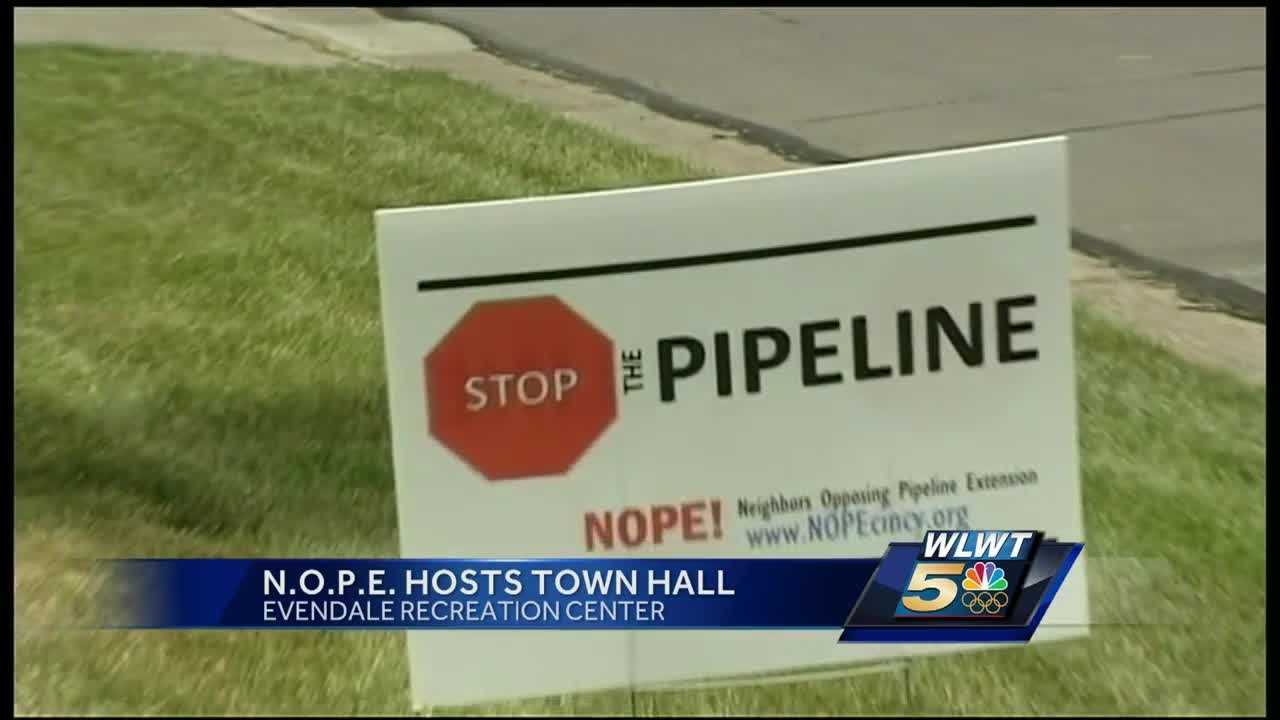 Those opposed to a pipeline extension will meet in Evendale on Monday evening.