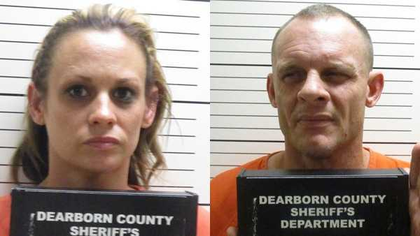 Melissa Holley and Brandon Mockbee were arrested in connection with several burglaries in and around Dearborn County.