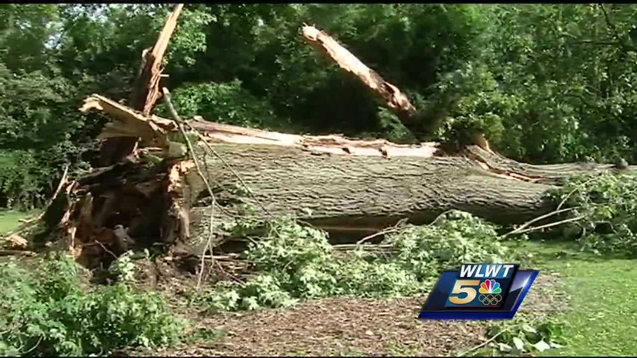 A series of strong storms left a mess behind in some parts of the Tri-State, especially Cincinnati.