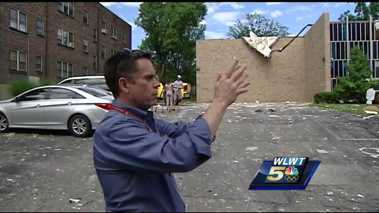 Ken Haydu reads the language of twisted branches and broken bricks like a novel as he walks through the storm damage in Clifton.
