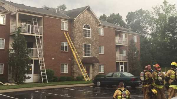 A lightning strike sparked a fire at a Crestview Hills apartment building, fire crews said.