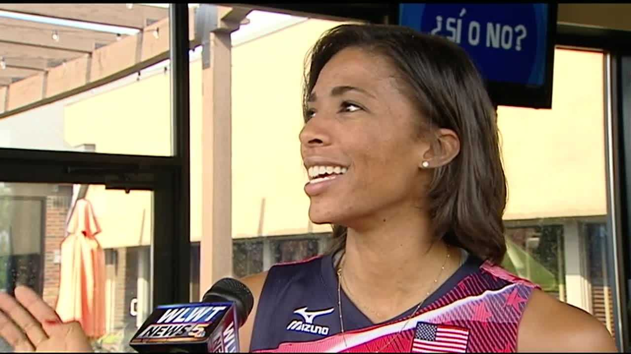 Cincinnati native Rachael Adams received a warm sendoff Friday evening,