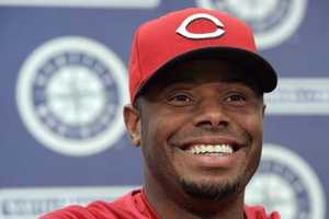 Cincinnati Reds' Ken Griffey Jr. addresses a news conference before a baseball game against the Seattle Mariners, Friday, June 22, 2007, in Seattle. Griffey, who played his first 11 years in the major leagues for the Mariners, was making his first appearance in Seattle since being traded to the Reds in 2000.