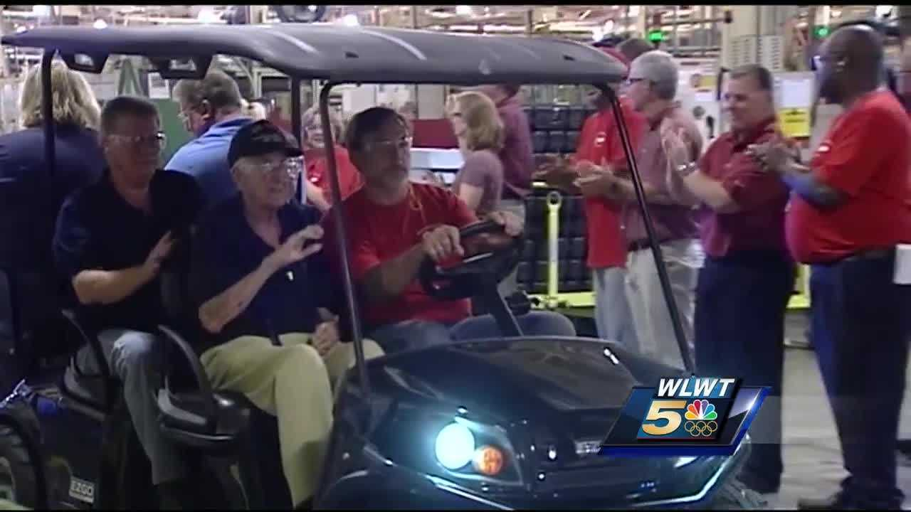 The Ford transmission plant in Sharonville had some special visitors on Wednesday.