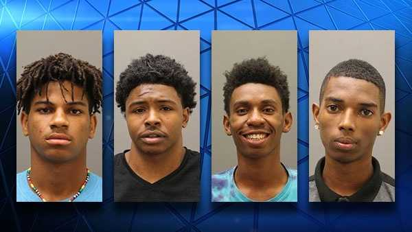 Five were arrested and charged with a home invasion in Blue Ash July 29, 2016. Left to right: Michael Cox, 18&#x3B; Robert Tubbs, 19&#x3B; Mykell Williams, 18 and Tremayne White, 18. Not pictured is an unnamed juvenile female.