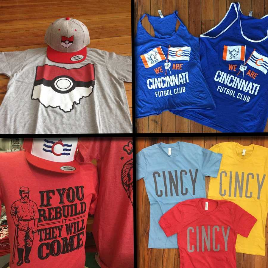 T-shirts, hats and accessories showing off Queen City pride. Facebook.