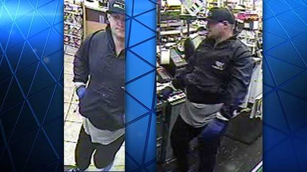 Colerain police are searching for a person they said robbed a gas station.