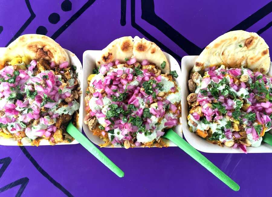 Fresh, fast-casual Indian-inspired food truck. Facebook.