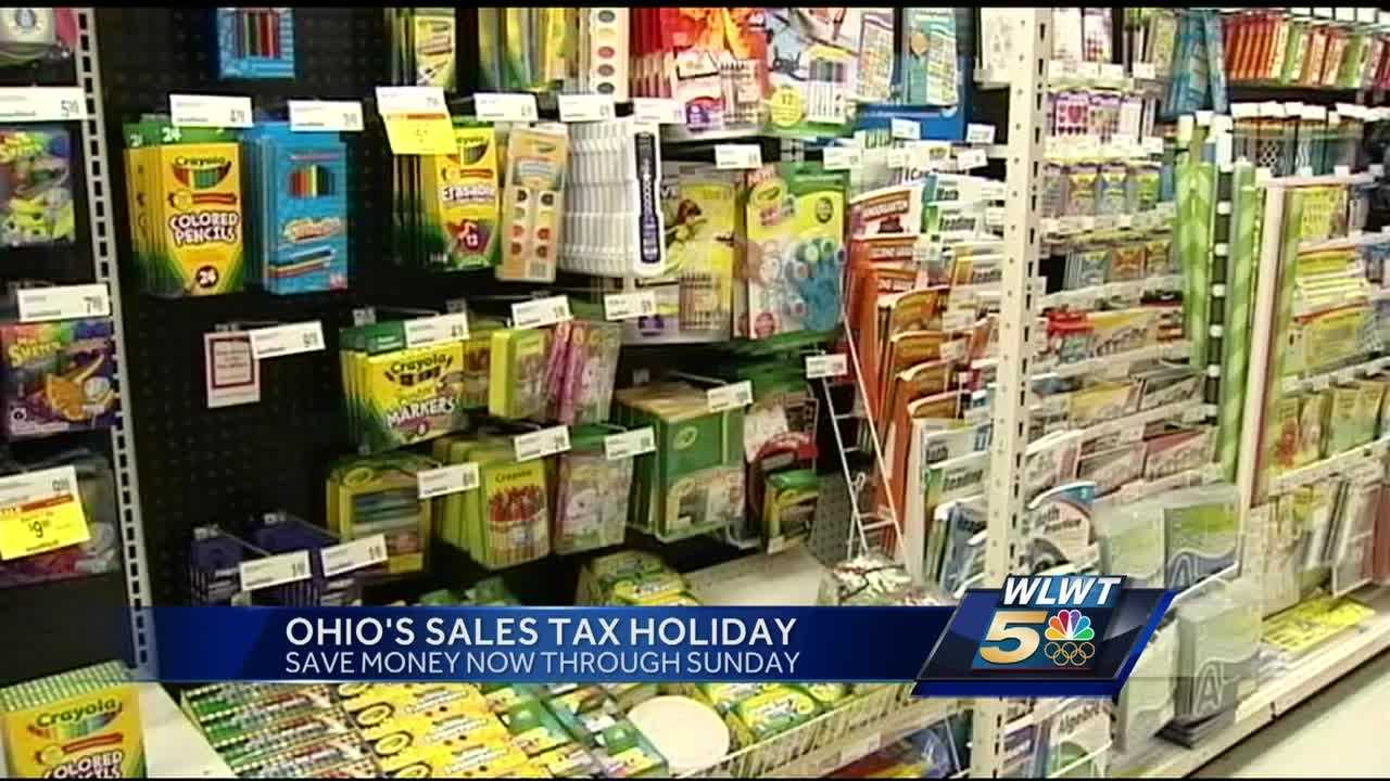 Shoppers in Ohio will get a three-day break from the state's sales tax for certain purchases this weekend.