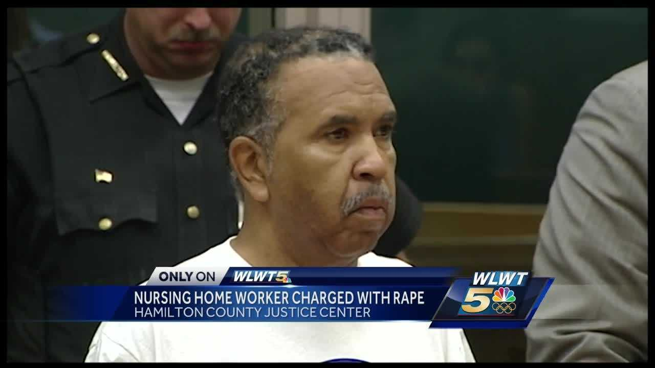 A nursing home employee is charged with rape after prosecutors say he had sex with a resident several times.