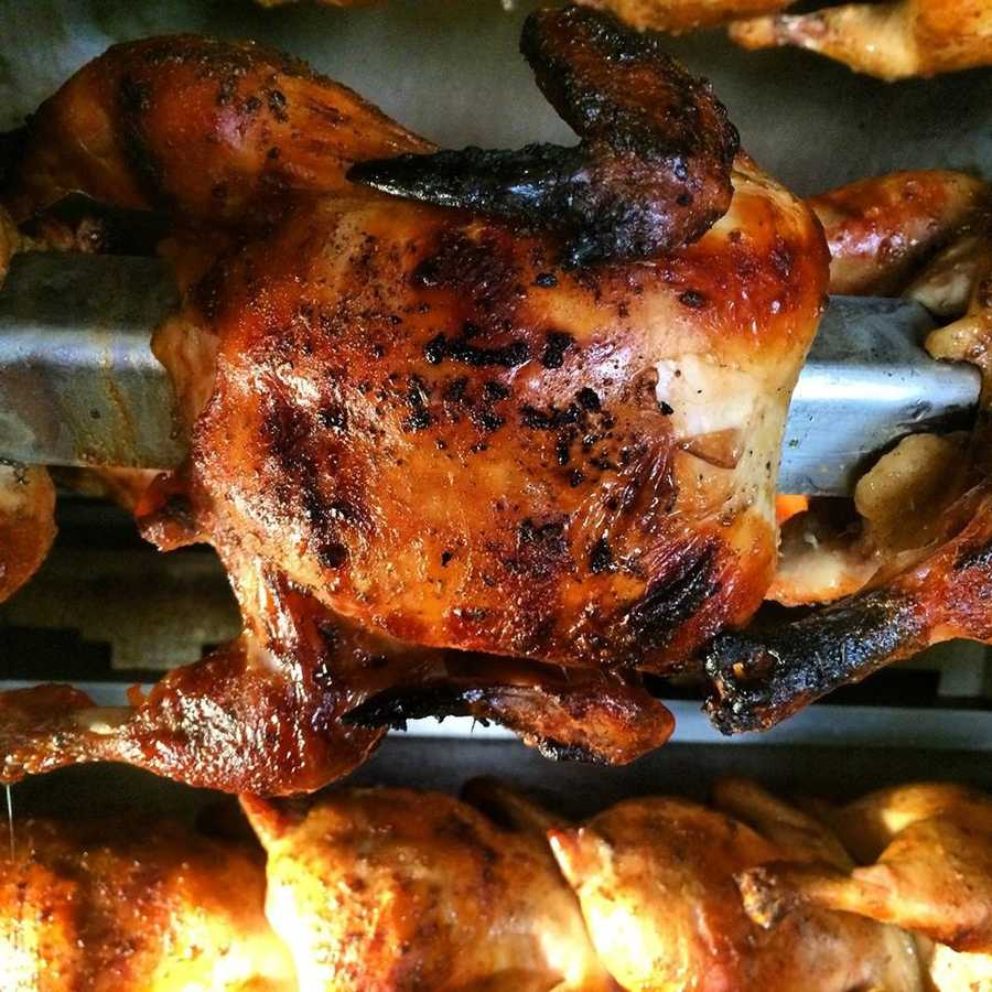 Rotisserie chicken, comfort food, nostalgic homestyle favorites