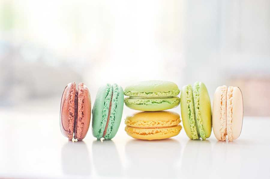 Macaron Bar is dedicated to French macarons and also offers pour-over coffees and loose leaf teas.