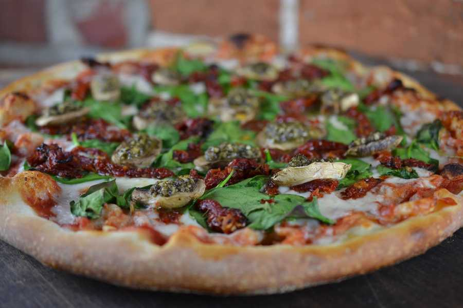 Goodfellas serves New York-style pizza by the slice.