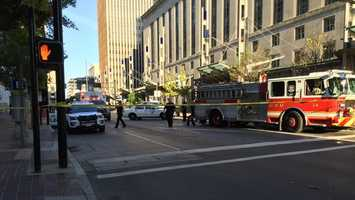 Cincinnati police officers shot and killed a robbery suspect downtown Sunday morning, police said.