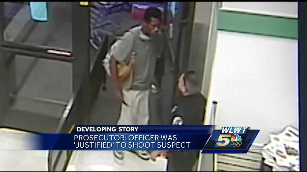 Police have released surveillance video of Sunday's downtown officer-involved shooting.