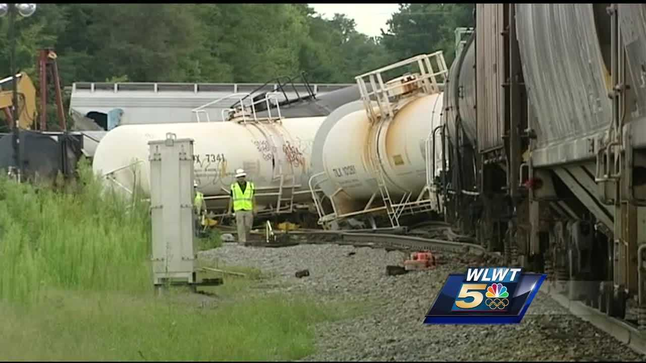Cleanup will continue for several days following a train derailment in Pendleton County.