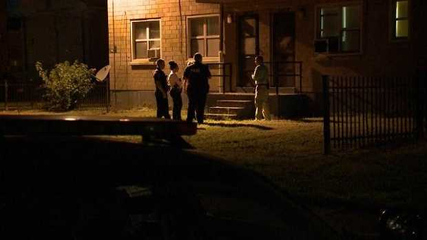 The scene in Louisville, Kentucky where a 4-year-old girl shot herself with a stolen gun.
