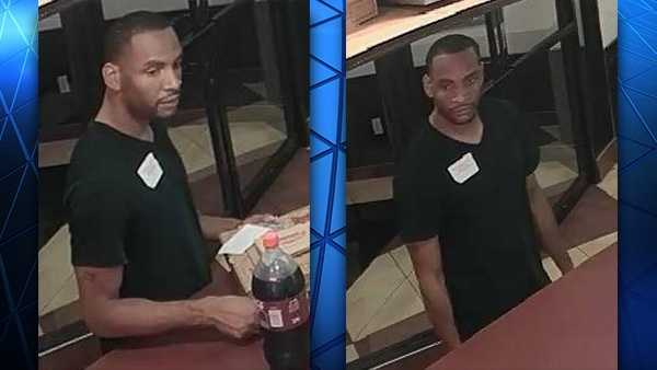 Police are looking for this man after they said he used a stolen credit card at two Springdale stores.
