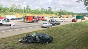 A crash has closed northbound Interstate 75 near state Route 122, the Ohio Department of Transportation reported.