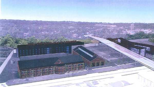 A rendering of the proposed New Riff campus in Newport, Ky.