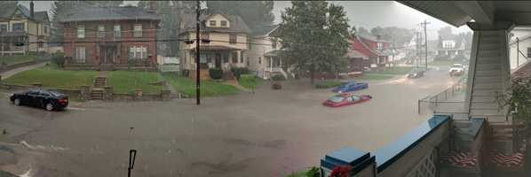 Flooding in Norwood, Ohio Aug. 28, 2016.