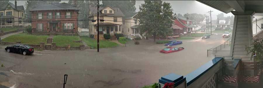 Flooding in Norwood, Ohio Aug. 28, 2016.