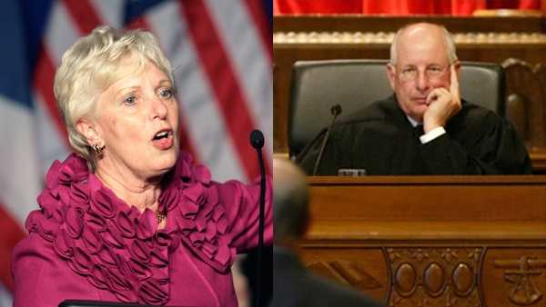 Two Ohio Supreme Court justices have heard oral arguments from that bench for the last time as they head toward retirement due to mandatory age limits. Court ended its oral arguments for the year on Wednesday, Aug. 1, 2016, so Judith Lanzinger, left, and Paul Pfeifer can help resolve undecided cases.