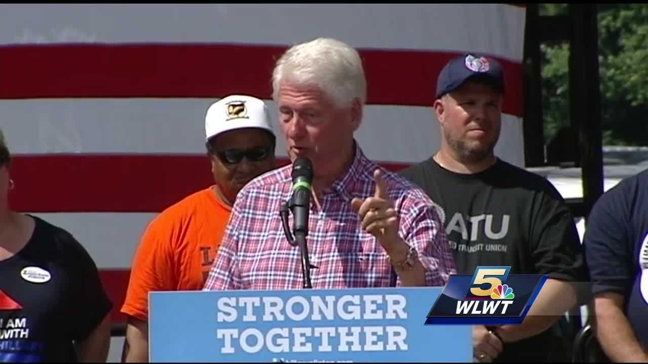 The presidential candidates worked Ohio on this Labor Day. Both Hillary Clinton and Donald Trump stumped up north. But Clinton's top surrogate, the former president, made an appearance at the annual AFL-CIO picnic at Coney Island.