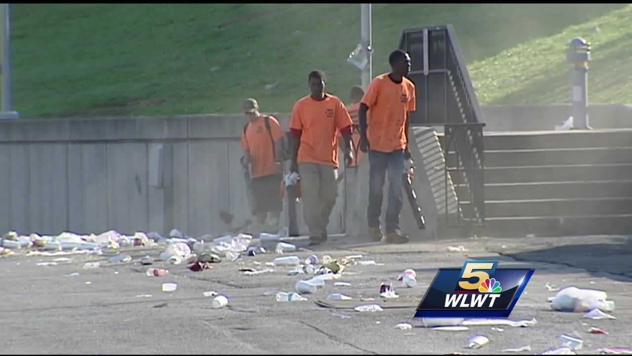 Riverfest's celebration always leaves behind a trail of trash from the hundreds of thousands of people who come to enjoy the festivities.