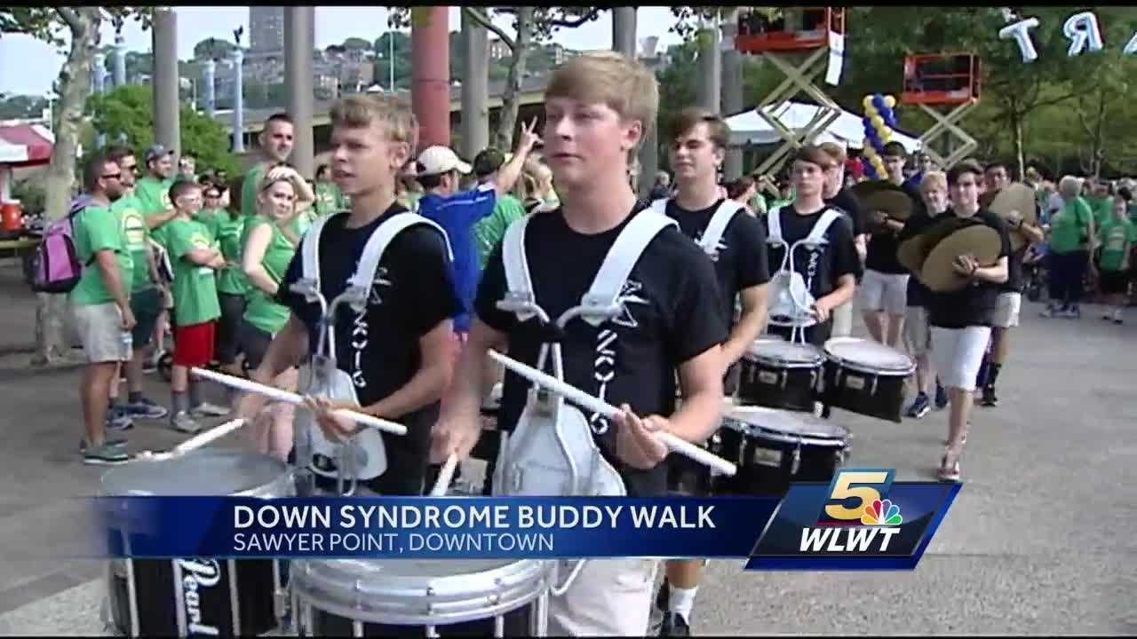 About 12,000 people were on hand at Sawyer Point for the 15th annual buddy walk.