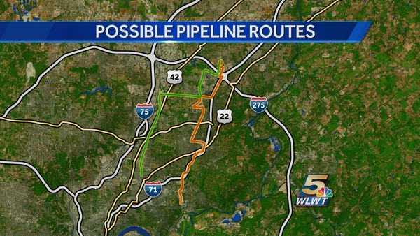 Duke's preferred path is shown in orange. The alternate route is shown in green.