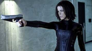 "Kate Beckinsale in the ""Underworld"" movies"